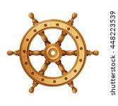 Wheel Vector Icon. Helm