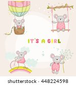 set of cute mouse  for baby... | Shutterstock .eps vector #448224598