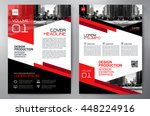 business brochure flyer design... | Shutterstock .eps vector #448224916