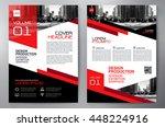 business brochure flyer design... | Shutterstock .eps vector #448224916