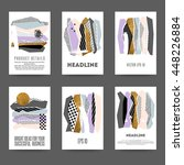 set of creative cards with... | Shutterstock .eps vector #448226884