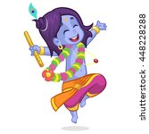 little cartoon krishna with... | Shutterstock .eps vector #448228288