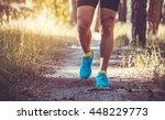 athlete running through the...   Shutterstock . vector #448229773