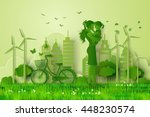 concept of eco friendly and... | Shutterstock .eps vector #448230574