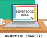 work on the laptop screen | Shutterstock .eps vector #448234714