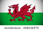 flag of wales with vignette