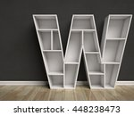 letter w shaped shelves 3d... | Shutterstock . vector #448238473