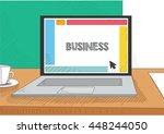 work on the laptop screen | Shutterstock .eps vector #448244050