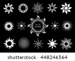 set of different emblems of... | Shutterstock .eps vector #448246564