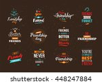 happy friendship day vector... | Shutterstock .eps vector #448247884