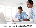 indian business people... | Shutterstock . vector #448248760