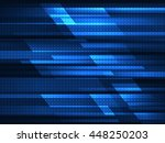 Abstract geometric background with blue stripes. Vector illustration - stock vector