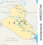 iraq political map with capital ... | Shutterstock .eps vector #448252744