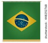 brazil flag banner ornament ... | Shutterstock .eps vector #448252768