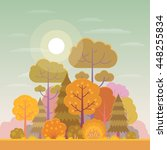 vector illustration of forest... | Shutterstock .eps vector #448255834