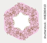 floral naturalistic hex decor... | Shutterstock .eps vector #448280410
