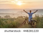 young man standing near ... | Shutterstock . vector #448281220