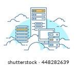cloud service database | Shutterstock .eps vector #448282639