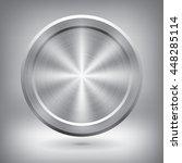 Metal Button  Vector Metallic...