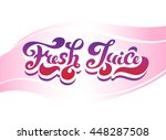 """fresh juice"" hand drawing... 