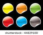 collection of six circular icon ... | Shutterstock .eps vector #44829100