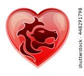 zodiac sign leo  vector...   Shutterstock .eps vector #448291798