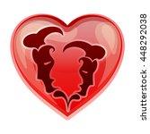 zodiac sign gemini  vector...   Shutterstock .eps vector #448292038