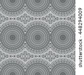seamless pattern. vintage... | Shutterstock . vector #448294009