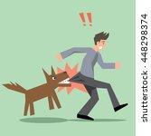 dog bite man vector | Shutterstock .eps vector #448298374