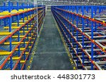 pallet racking system for... | Shutterstock . vector #448301773