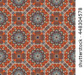 seamless pattern. vintage... | Shutterstock . vector #448304578
