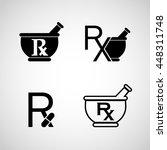 pharmacy logo icon vector set | Shutterstock .eps vector #448311748