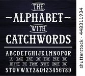 hand drawn font and catchwords. ... | Shutterstock .eps vector #448311934