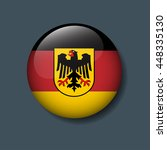 germany flag on button  vector...