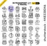 transport logistic   travel... | Shutterstock .eps vector #448338046