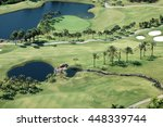 Small photo of TENERIFE, CANARY ISLANDS - SEPTEMBER 01, 2006: Aerial view of golf course Abama in southern Tenerife