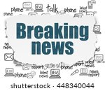 news concept  painted blue text ... | Shutterstock . vector #448340044