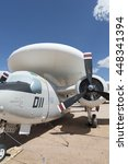 Small photo of Tucson, USA - April 25, 2016:close up of Grumman E-1 Tracer aircraft in the Pima Air & Space Museum was the 1st purpose built airborne early warning aircraft.