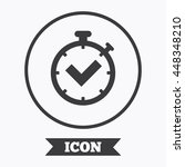 timer sign icon. check... | Shutterstock .eps vector #448348210