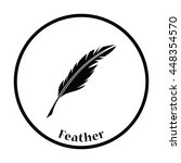 writing feather icon. thin... | Shutterstock .eps vector #448354570