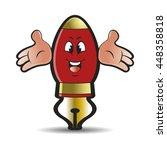 red colored ink pen cartoon...   Shutterstock .eps vector #448358818