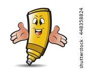 yellow colored happy marker pen ...   Shutterstock .eps vector #448358824
