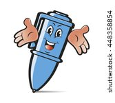 blue colored happy ballpoint...   Shutterstock .eps vector #448358854