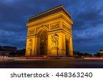 arc de triomphe in paris  france   Shutterstock . vector #448363240
