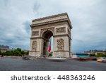 arc de triomphe in paris  france | Shutterstock . vector #448363246
