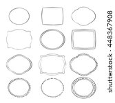 hand drawn frames set. cartoon... | Shutterstock .eps vector #448367908
