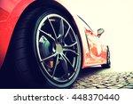 back of a red modern sport car...   Shutterstock . vector #448370440