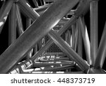 complex ladder. urban geometry  ... | Shutterstock . vector #448373719