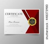 red certificate template... | Shutterstock .eps vector #448373980