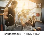 sport  fitness  lifestyle and... | Shutterstock . vector #448374460